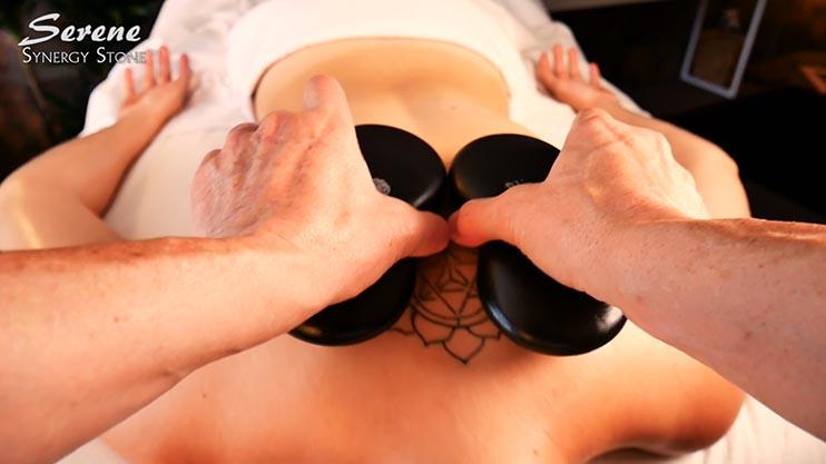 Serene Action Shots Synergy Stone Massage 742